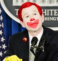 Bush is a clown
